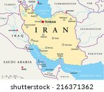 iran political map with capital ... | Shutterstock .eps vector #216371362