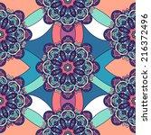 tribal ethnic seamless pattern... | Shutterstock .eps vector #216372496