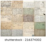 antique postcards. old... | Shutterstock . vector #216374302