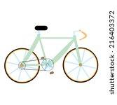 vector green bike isolated   Shutterstock .eps vector #216403372