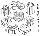 gift box collection | Shutterstock .eps vector #216417715