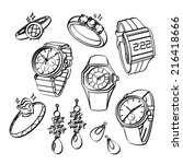 jewellery and watches   Shutterstock .eps vector #216418666