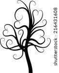 vector heart shape tree | Shutterstock .eps vector #216431608