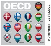 oecd members countries   part... | Shutterstock .eps vector #216432022