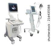 ultrasound apparatus under the...   Shutterstock . vector #216435388