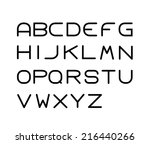 a   z vector design fonts  | Shutterstock .eps vector #216440266