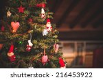 christmas tree and christmas... | Shutterstock . vector #216453922