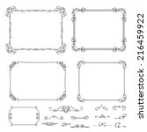 vector set vintage calligraphic ... | Shutterstock .eps vector #216459922