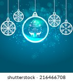 abstract beauty christmas and... | Shutterstock .eps vector #216466708