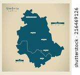 modern map   umbria it | Shutterstock .eps vector #216469126