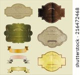 set of vintage labels  vector... | Shutterstock .eps vector #216472468