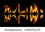 fire abstract and flames shapes ...   Shutterstock . vector #216476125