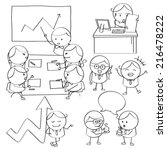 businessman illustrations | Shutterstock .eps vector #216478222