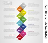 flat colorful abstract timeline ... | Shutterstock .eps vector #216483892