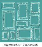 set picture frames  hand... | Shutterstock . vector #216484285