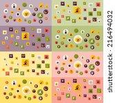 halloween symbols collection.... | Shutterstock . vector #216494032