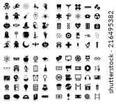 set of plane icons. education ... | Shutterstock . vector #216495382