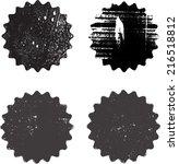 set of grunge stamp  | Shutterstock .eps vector #216518812