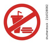 red circle no food and drink or ...   Shutterstock . vector #216528082