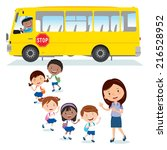 school bus. back to school.... | Shutterstock .eps vector #216528952