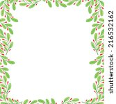 vector watercolor frame floral... | Shutterstock .eps vector #216532162