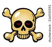 skull and crossbones symbol...