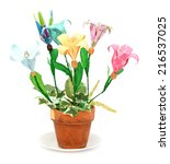 origami flowers pot | Shutterstock . vector #216537025