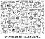 sweets seamless pattern | Shutterstock .eps vector #216538762