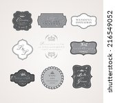 vintage frames vector  eps 10...   Shutterstock .eps vector #216549052