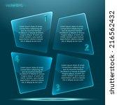 irregular transparent glossy... | Shutterstock .eps vector #216562432