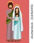 christianity design over red... | Shutterstock .eps vector #216563452