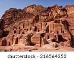 petra  jordan. facades of old... | Shutterstock . vector #216564352