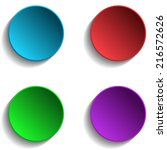 set of colorful circle | Shutterstock .eps vector #216572626