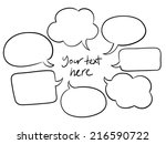 vector sketchy speech bubbles | Shutterstock .eps vector #216590722