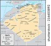 algeria country map | Shutterstock .eps vector #216603892