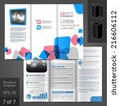 white vector brochure template... | Shutterstock .eps vector #216606112