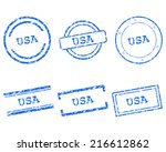 usa stamps | Shutterstock .eps vector #216612862