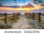 sunset beach in gabo de gata ... | Shutterstock . vector #216622546