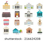 color government buildings ... | Shutterstock .eps vector #216624208