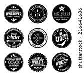 vector illustrations of various ...   Shutterstock .eps vector #216641686