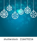 abstract beauty christmas and... | Shutterstock .eps vector #216670216