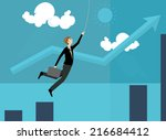 business and trying business... | Shutterstock .eps vector #216684412