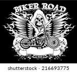 biker road | Shutterstock .eps vector #216693775