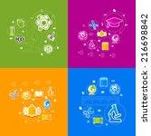 education sticker infographic | Shutterstock .eps vector #216698842