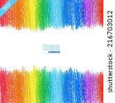 Handpaint Oil Pastel Rainbow...