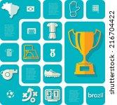 football  soccer infographic | Shutterstock .eps vector #216704422
