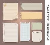 vintage paper set. vector... | Shutterstock .eps vector #216714952