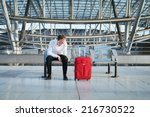 problem in the airport  tired...   Shutterstock . vector #216730522