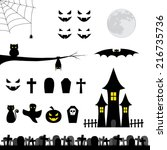 halloween collection | Shutterstock .eps vector #216735736
