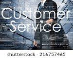 businessman presenting customer ... | Shutterstock . vector #216757465